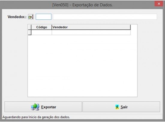 Exportação de Dados para a Automação de Força de Vendas